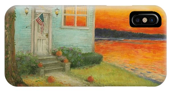 Lakehouse Fall Nocturne IPhone Case