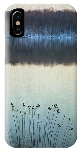 Lakeside Winter Flowers IPhone Case