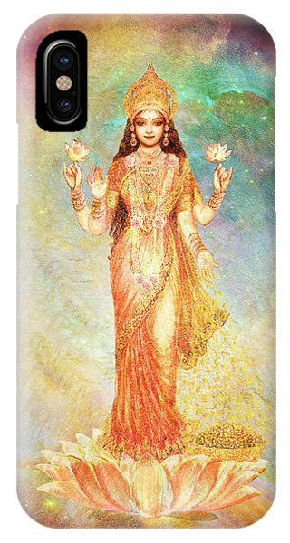 Lakshmi Floating In A Galaxy Phone Case by Ananda Vdovic