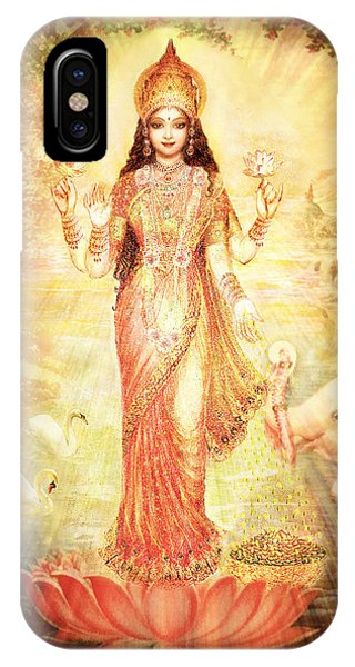 Lakshmi Goddess Of Fortune Vintage IPhone Case