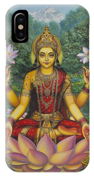 Swan iPhone Case - Lakshmi by Vrindavan Das