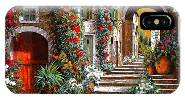 Arched iPhone Case - L'altra Porta Rossa Al Tramonto by Guido Borelli