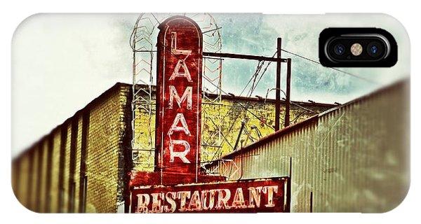 Lamar Restaurant Sign IPhone Case