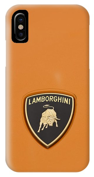 Lambo Hood Ornament Orange IPhone Case