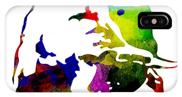 Lamborghini Bull Emblem Colorful Abstract. IPhone Case