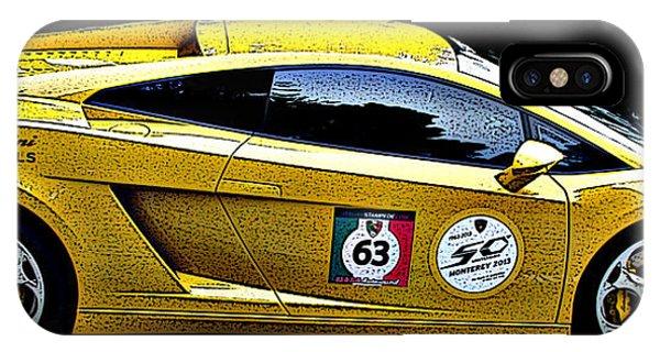 Lamborghini Gallardo Side Study IPhone Case
