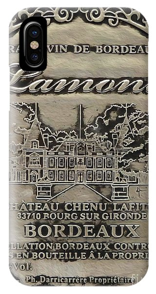 Bar iPhone Case - Lamont Grand Vin De Bordeaux  by Jon Neidert