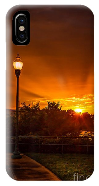 Lamp Post Sunset IPhone Case