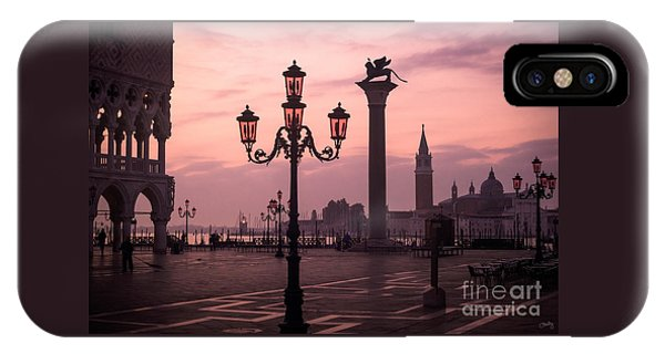 Lamppost Of Venice IPhone Case
