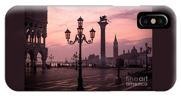 Lamppost Of Venice IPhone Case