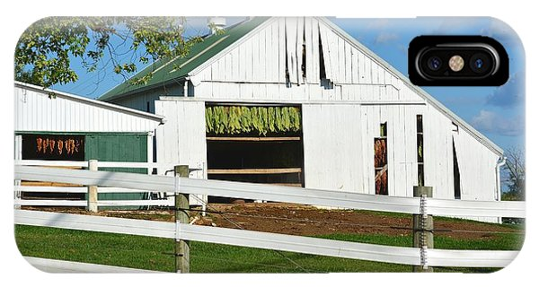 Lancaster County Tobacco Barn IPhone Case