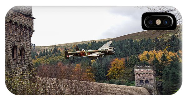 Lancaster Kc-a At The Derwent Dam IPhone Case
