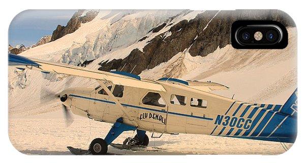 Landing On An Alaskan Mountain IPhone Case