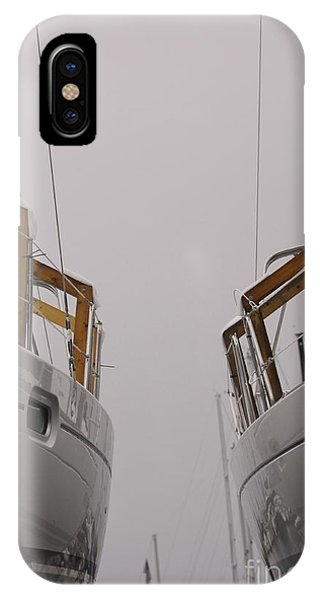 Landlocked On A Foggy Day IPhone Case