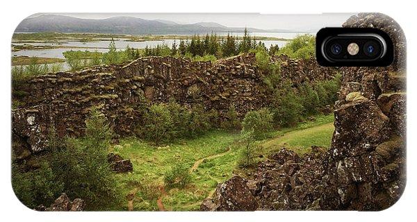 Landscapes iPhone Case - Landscape In Iceland Pingvellir by Matthias Hauser