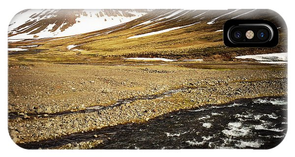 Landscapes iPhone Case - Landscape In North Iceland - River And Mountain by Matthias Hauser
