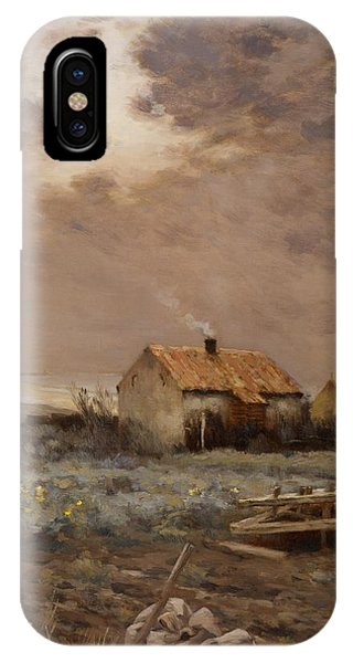 Plowing iPhone Case - Landscape by Jean Charles Cazin