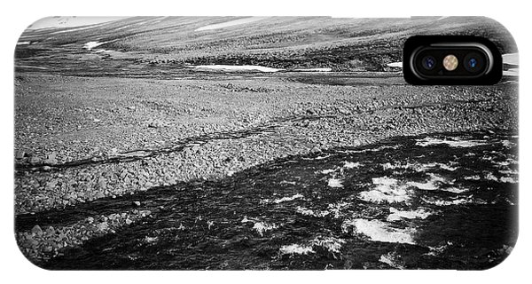 Landscapes iPhone Case - Landscape North Iceland Black And White by Matthias Hauser