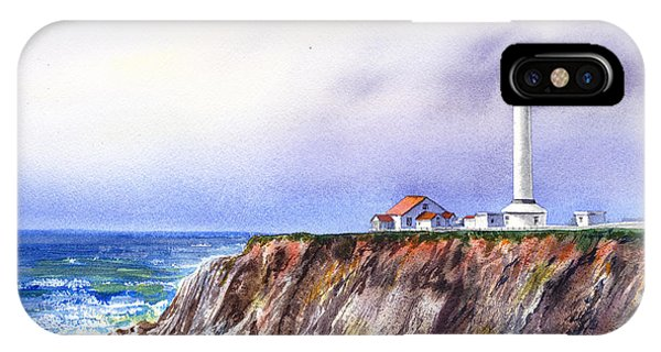 Lighthouse Wall Decor iPhone Case - Lighthouse Point Arena California  by Irina Sztukowski