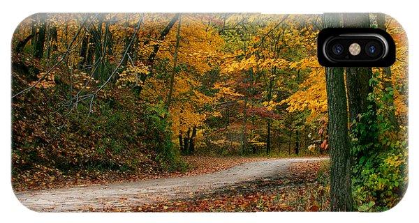 Lane In Fall IPhone Case