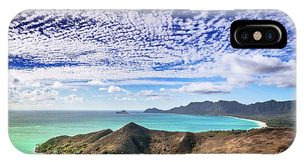 Lanikai Beach Cirrocumulus Clouds IPhone Case