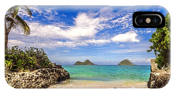 Lanikai Beach Cove IPhone Case
