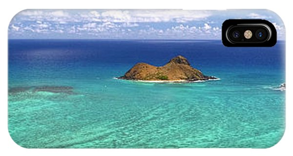 Lanikai Beach From Above Panorama IPhone Case