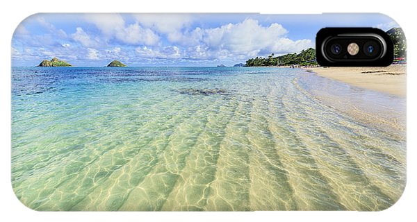 Lanikai Beach Mid Day Ripples In The Sand IPhone Case