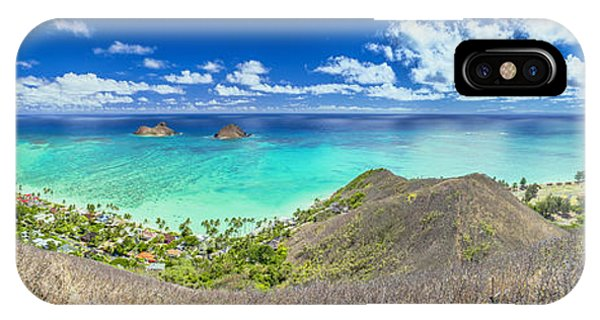 Lanikai Beach Panorama IPhone Case