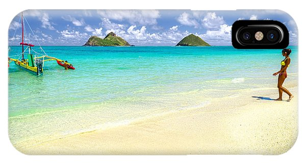 Lanikai Beach Paradise IPhone Case