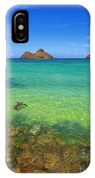 Oahu iPhone Case - Lanikai Beach Sea Turtle by Aloha Art