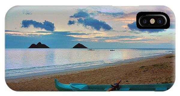 Oahu iPhone Case - Lanikai Beach Sunrise 6 - Kailua Oahu Hawaii by Brian Harig