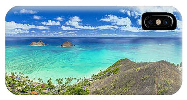 Lanikai Bellows And Waimanalo Beaches Panorama IPhone Case