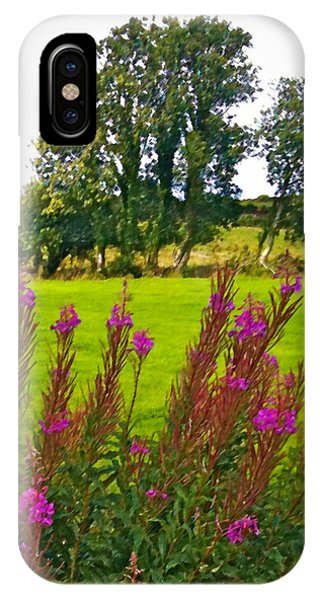 Lanna Fireweeds County Clare Ireland IPhone Case