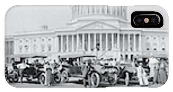 Capitol Building iPhone Case - Lanscaster Automobile Club Washington Dc by Fred Schutz Collection