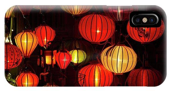 Lantern Shop At Night, Hoi An, Vietnam Phone Case by David Wall