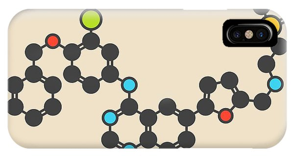Lapatinib Cancer Drug Molecule Phone Case by Molekuul