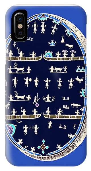 Lappish Shaman's Ritual Drum IPhone Case
