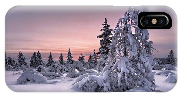 Fir Trees iPhone Case - Lappland - Winterwonderland by Christian Schweiger