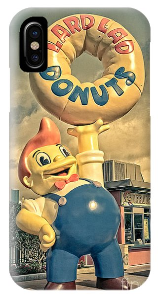 IPhone Case featuring the photograph Lard Lad Donuts by Edward Fielding