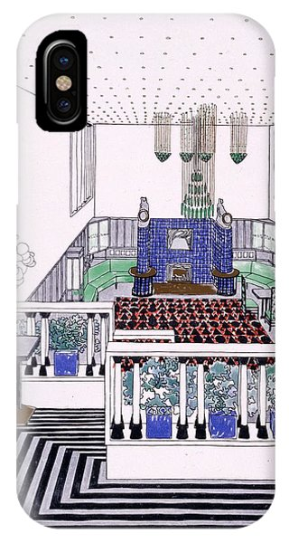 Fireplace iPhone Case - Large Balconied Reception Room by Leopold Bauer
