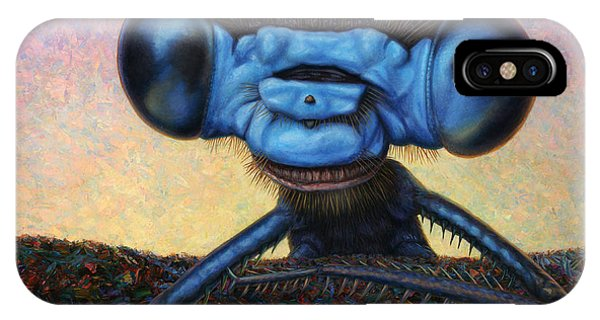 Strange iPhone Case - Large Damselfly by James W Johnson
