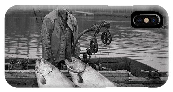 Large King Salmon Moss Landing Monterey California  Circa 1955 IPhone Case
