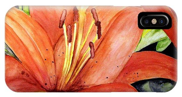 Large Orange Lily IPhone Case