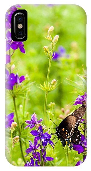 Larkspur Visitor IPhone Case