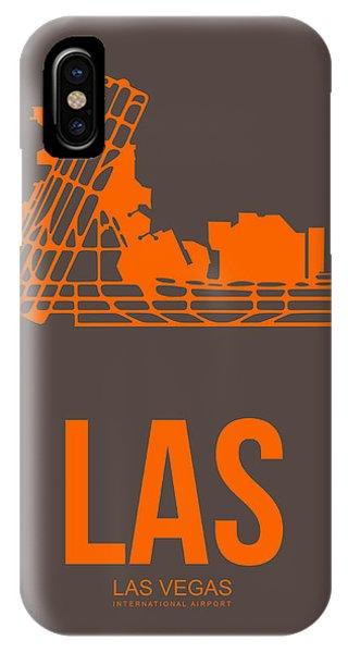 Town iPhone Case - Las Las Vegas Airport Poster 1 by Naxart Studio