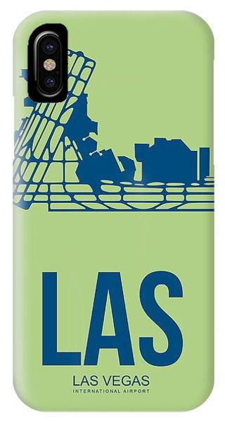 Las Vegas iPhone X Case - Las Las Vegas Airport Poster 2 by Naxart Studio