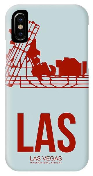 Las Vegas iPhone X Case - Las Las Vegas Airport Poster 3 by Naxart Studio
