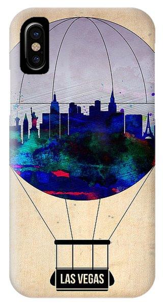 Las Vegas iPhone X Case - Las Vegas Air Balloon by Naxart Studio