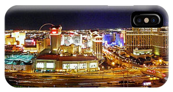 Las Vegas At Night - Panorama IPhone Case